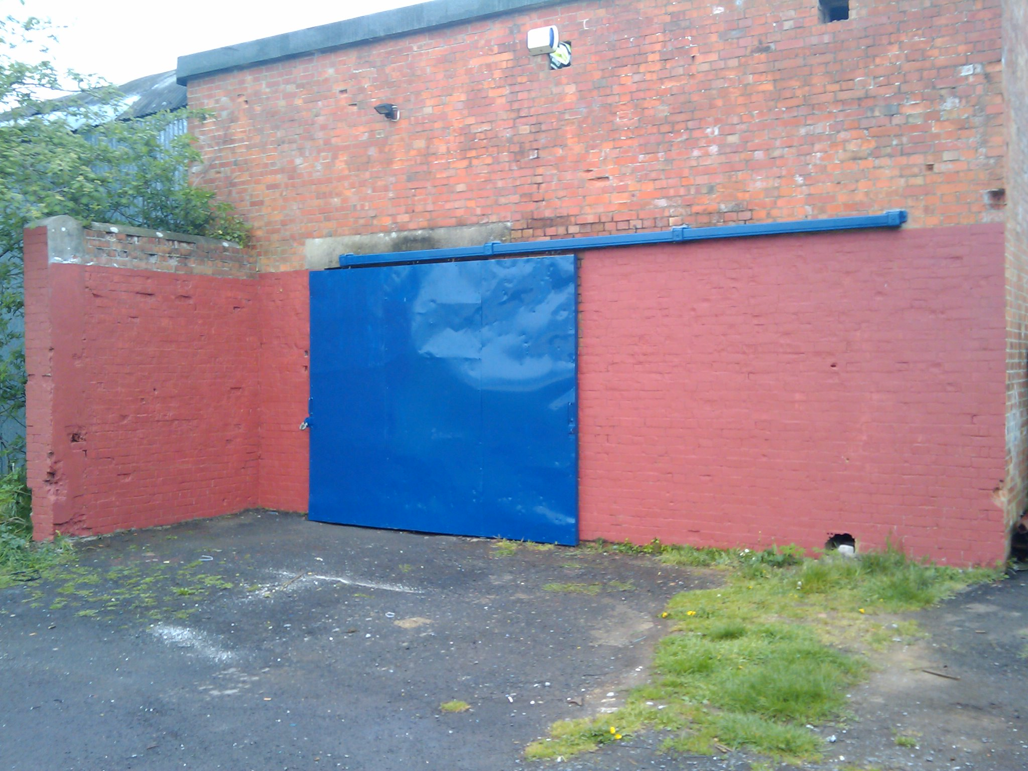 Newly painted shed door